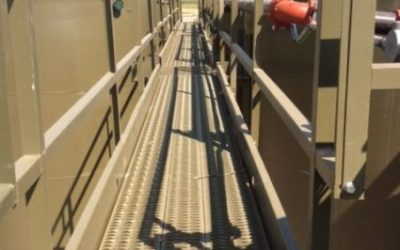 TrueNorth Steel's TrueWalk Catwalk Accelerates Construction of Oil-Well Operations